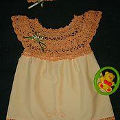 """Платье ручной работы. Ярмарка Мастеров - ручная работа Платье для девочки """"Персик"""". Handmade."""