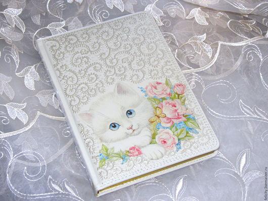 подарок девочке, подарок девушке, ежедневник с котенком