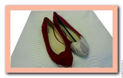Винтажная обувь. Ярмарка Мастеров - ручная работа. Купить балетки новые 39 размер. Handmade. Розовый, похоже на замшу