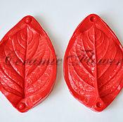 Материалы для творчества handmade. Livemaster - original item Silicone mold (Weiner) leaf hydrangea,double-sided,medium. Handmade.