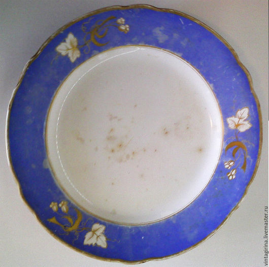 Винтажная посуда. Ярмарка Мастеров - ручная работа. Купить Антикварная тарелка Гарднер. 1830 - 1860 г.г.. Handmade. Синий