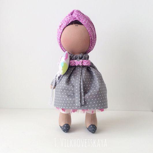 Куклы тыквоголовки ручной работы. Ярмарка Мастеров - ручная работа. Купить Летние горошки. Handmade. Шарф на голову, челка, трикотаж