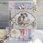 """Открытки ручной работы. Ярмарка Мастеров - ручная работа Открытка валентинка """"Нежный поцелуй"""". Handmade."""