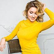Одежда ручной работы. Ярмарка Мастеров - ручная работа Шерстяная водолазка желтая. Handmade.