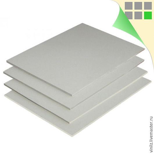 Пластик ПВХ вспененный, 3мм (белый), размеры в ассортименте