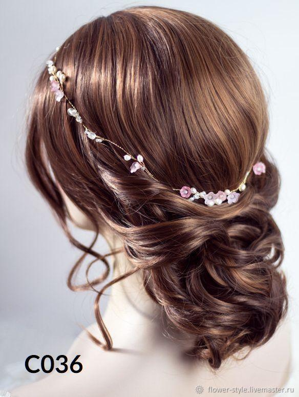Свадебный ободок для волос С036, Ободки, Москва,  Фото №1