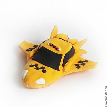 """Куклы и игрушки ручной работы. Ярмарка Мастеров - ручная работа Фигурка """"жёлтое такси - самолёт"""" (самолетики, самолётик). Handmade."""