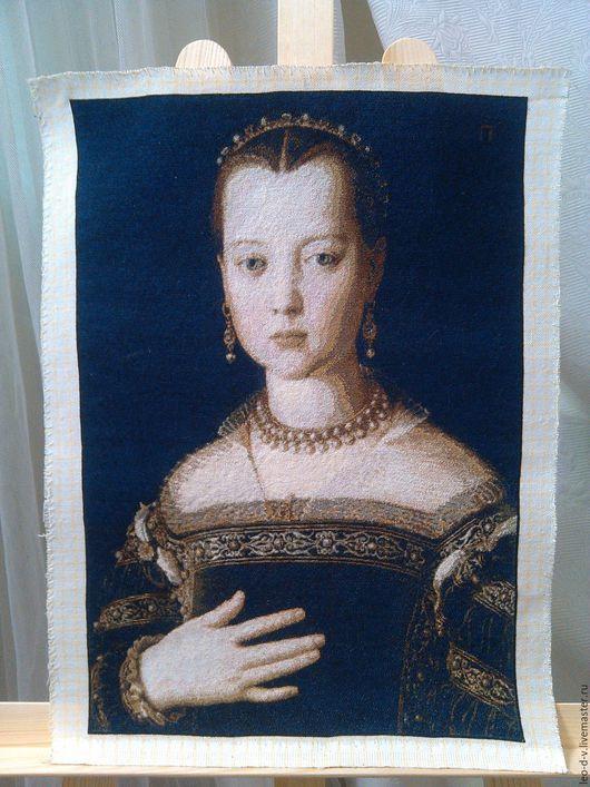 Репродукции ручной работы. Ярмарка Мастеров - ручная работа. Купить Бронзино «Мария Медичи», вышитая картина. Handmade. Комбинированный, репродукция