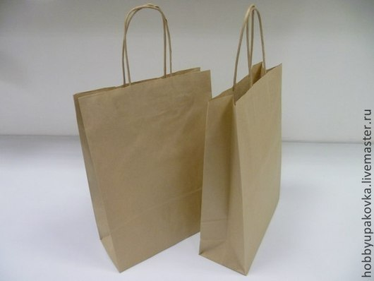 Упаковка ручной работы. Ярмарка Мастеров - ручная работа. Купить Пакет крафт 24х32х11 см с витыми ручками. Handmade. Пакет