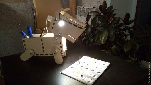 """Освещение ручной работы. Ярмарка Мастеров - ручная работа. Купить Лампа органайзер """"Дружок"""". Handmade. Белый, лампа настольная"""