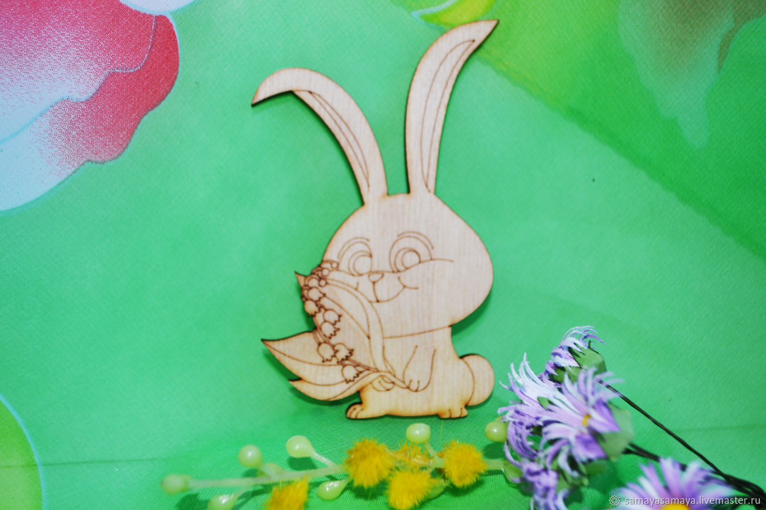 Bunny with lilies of the valley, a preparation for creativity, Blanks for decoupage and painting, Zheleznodorozhny,  Фото №1