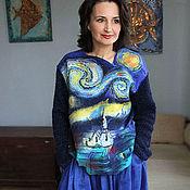 """Одежда ручной работы. Ярмарка Мастеров - ручная работа свитшот """"Звездная ночь"""". Handmade."""