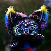 Куклы и игрушки ручной работы. Ярмарка Мастеров - ручная работа Космо- кошачий зверек. Handmade.
