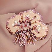 Украшения handmade. Livemaster - original item Brooch Velvet evening glass and beads. Handmade.