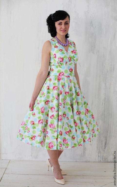 Платья ручной работы. Ярмарка Мастеров - ручная работа. Купить Платье-сарафан в стиле 50-х. Handmade. Женская одежда