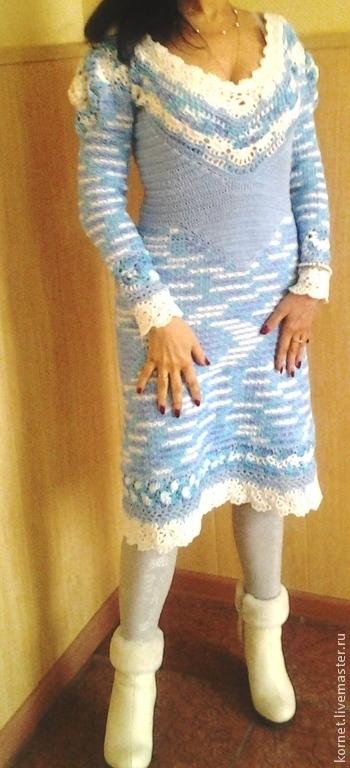 """Платья ручной работы. Ярмарка Мастеров - ручная работа. Купить платье """"8 января"""". Handmade. Бирюзовый"""