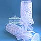 """Свадебные бокалы """"Кружево"""". Точечная роспись по стеклу, Бокалы свадебные, Великий Новгород,  Фото №1"""