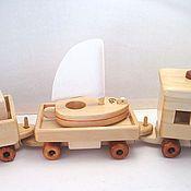 Техника, роботы, транспорт ручной работы. Ярмарка Мастеров - ручная работа Вагон с яхточкой. Handmade.