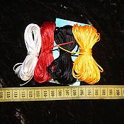 Материалы для творчества handmade. Livemaster - original item Satin cords, 1,5-1,8 mm (10 meters). Handmade.