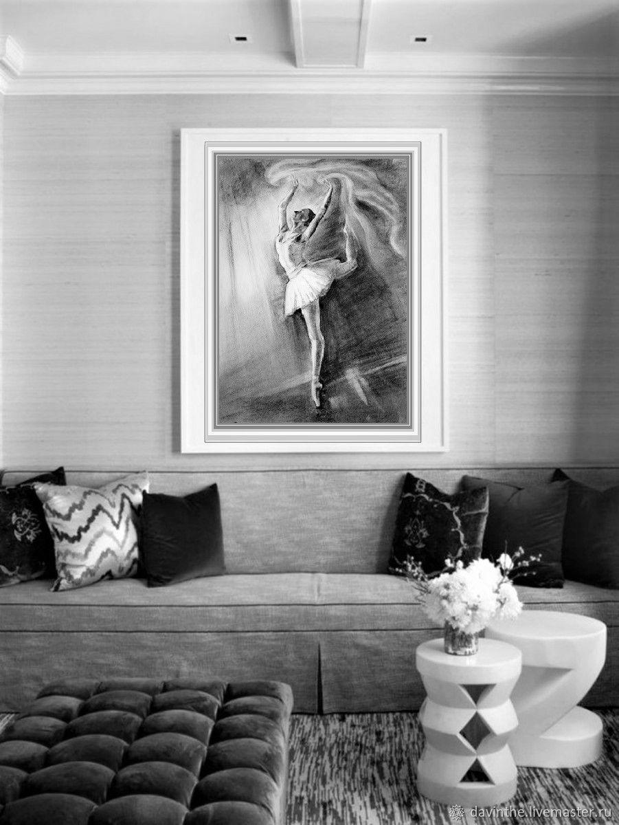 Балерина Графика Рисунок углем 60х80, Картины, Афины,  Фото №1