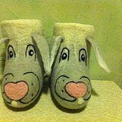 """Обувь ручной работы. Ярмарка Мастеров - ручная работа Валенки """"Серые зайки"""". Handmade."""