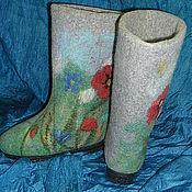 Обувь ручной работы. Ярмарка Мастеров - ручная работа Валенки Цветочный луг. Handmade.