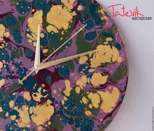 """Часы для дома ручной работы. Ярмарка Мастеров - ручная работа. Купить Часы настенные """"Золотые тропики"""". Handmade. Волшебство"""