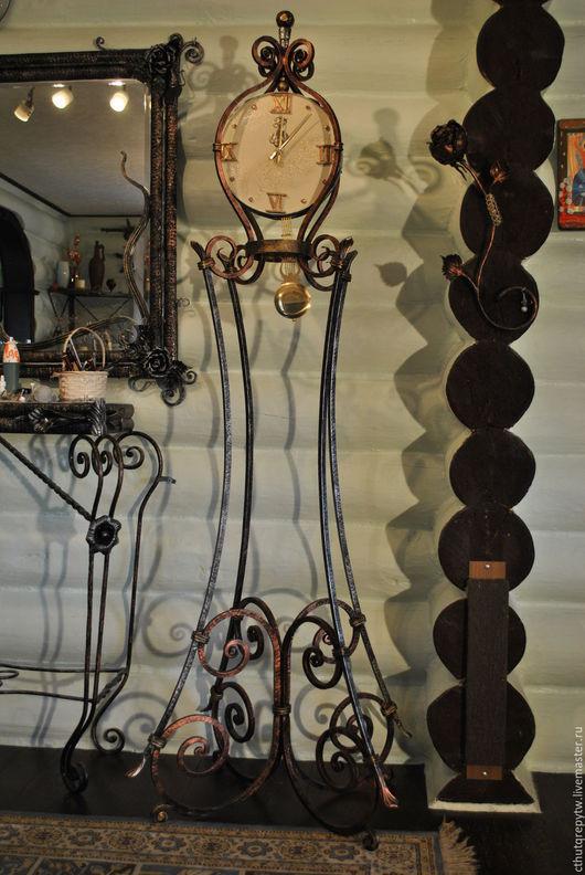 Часы для дома ручной работы. Ярмарка Мастеров - ручная работа. Купить Кованые напольные часы. Handmade. Разноцветный, богатство, интерьер