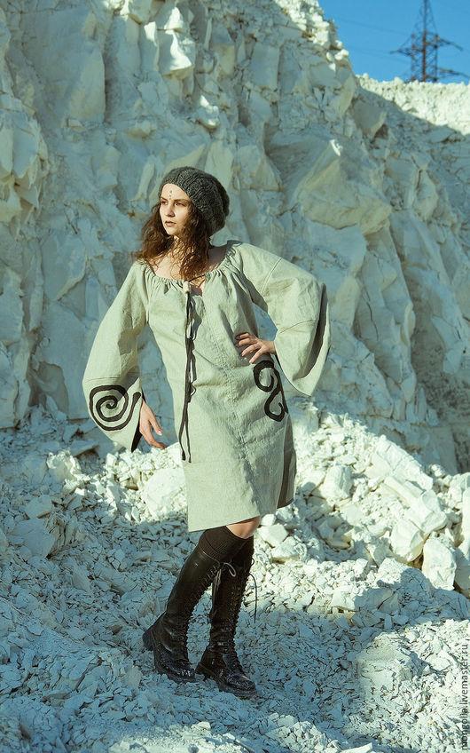Платья ручной работы. Ярмарка Мастеров - ручная работа. Купить Фолк-платье Light. Handmade. Платье, вечерние платья, этно