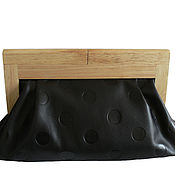 Сумки и аксессуары handmade. Livemaster - original item Clutch bag with wooden clasp