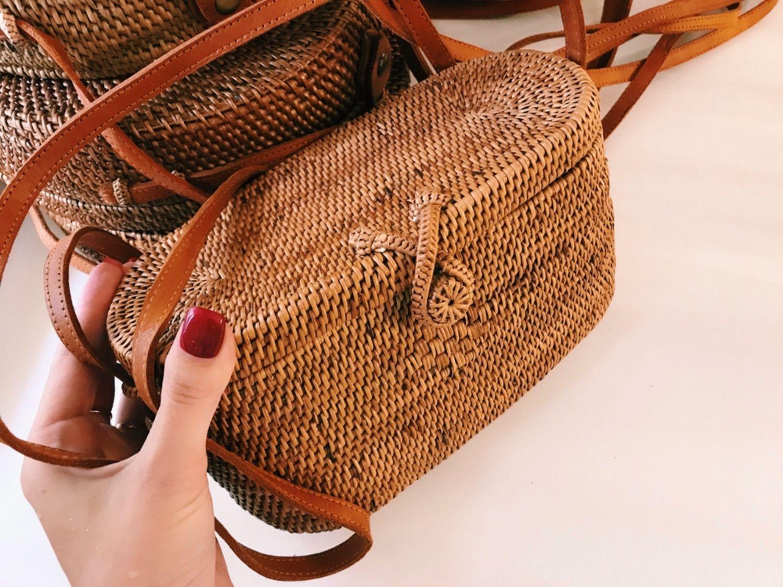 Плетёная сумка-модель Сундук с о.Бали