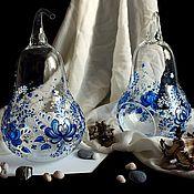 Для дома и интерьера ручной работы. Ярмарка Мастеров - ручная работа Под гжель (декоративная ваза-подсвечник). Handmade.
