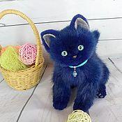 Игрушка из нат меха котенок Василек