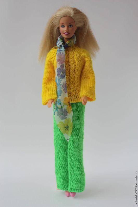 Одежда для кукол ручной работы. Ярмарка Мастеров - ручная работа. Купить Брючный костюм. Handmade. Одежда для кукол, комбинированный