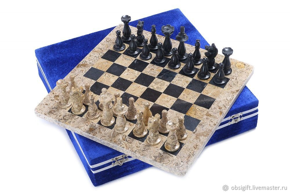 Chess stone Marble and Shell 30, PakShah, Chess, St. Petersburg,  Фото №1