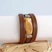 Украшения handmade. Livemaster - original item Bracelet with kvats Chocolate-red. Handmade.