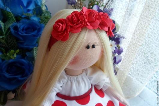 Коллекционные куклы ручной работы. Ярмарка Мастеров - ручная работа. Купить Текстильная кукла Мила. Handmade. Ярко-красный, большеножка