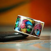 """Кольца ручной работы. Ярмарка Мастеров - ручная работа Кольцо """"Крылья бабочки"""" из серебра с эмалью. Минанкари. Handmade."""