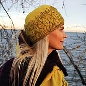 Аксессуары ручной работы. Ярмарка Мастеров - ручная работа Комплект валяный шапочка и шарф Мимоза. Handmade.