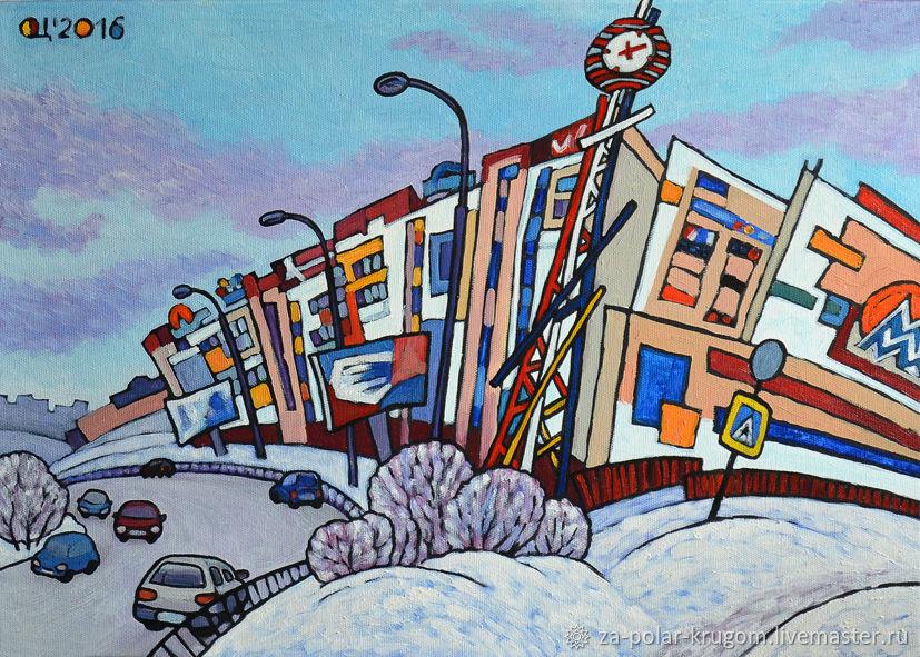 Картина ТЦ Мурманск-Молл , холст масло, Картины, Мурманск,  Фото №1