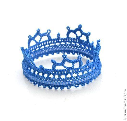 Детская бижутерия ручной работы. Ярмарка Мастеров - ручная работа. Купить Корона для принца маленькая синяя реквизит для фотосессии новорожденны. Handmade.