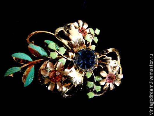 """Винтажные украшения. Ярмарка Мастеров - ручная работа. Купить Винтажная брошь """" Весенние цветы"""" 50 года. Handmade."""