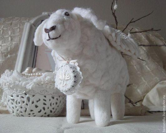 Текстиль, ковры ручной работы. Ярмарка Мастеров - ручная работа. Купить Музыкальная овечка. Handmade. Овечка, подарок на новый год, ангел