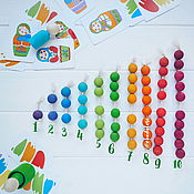 Куклы и игрушки ручной работы. Ярмарка Мастеров - ручная работа Бусины счётные.55 шт в наборе.диаметр 20 мм. Handmade.