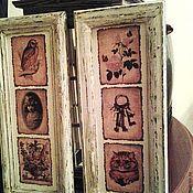 Картины и панно ручной работы. Ярмарка Мастеров - ручная работа Парные картины Винтаж в технике декупаж. Handmade.
