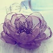 """Украшения ручной работы. Ярмарка Мастеров - ручная работа Заколка брошь цветок """"Фиолетовая дымка"""". Handmade."""