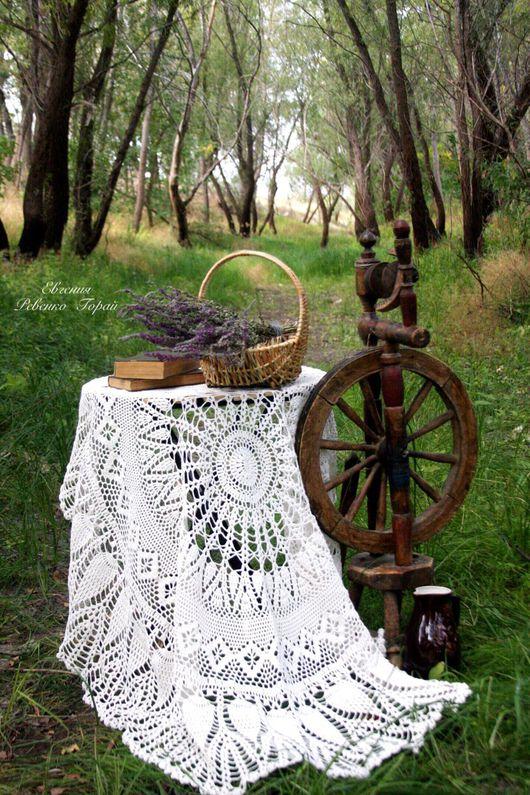 """Текстиль, ковры ручной работы. Ярмарка Мастеров - ручная работа. Купить Скатерть крючком """"Волшебная пора"""" Ручная работа.. Handmade."""