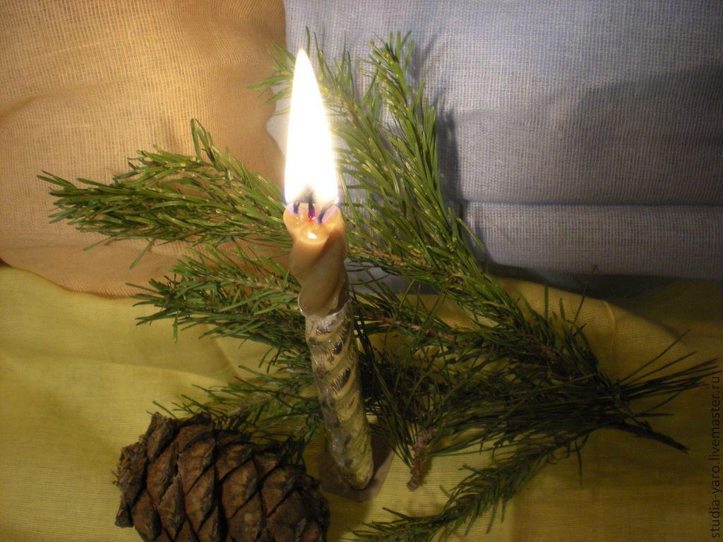 Исполнение мечты --свеча  восковая  с  купальскими  травами  Старинный рецепт.   Обережная мастеская --Студия ЯРА