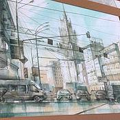 Картины и панно ручной работы. Ярмарка Мастеров - ручная работа Красные ворота. Handmade.