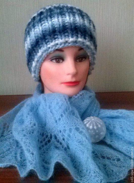"""Шапки ручной работы. Ярмарка Мастеров - ручная работа. Купить Шапочка """"Снегурочка"""". Handmade. Комбинированный, шапка женская"""
